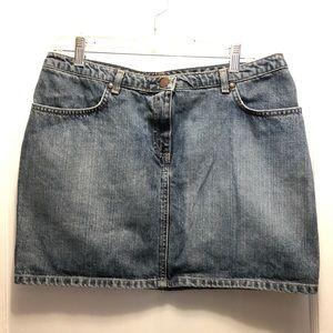 Vtg 90s 🔥f c u k 🔥Denim Skirt
